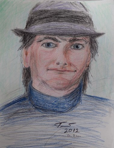 Self Portrait in Color Pencils - Trent P. McDonald