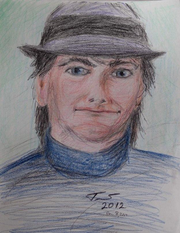 Self Portrait in Color Pencils - Trent P. McDonald