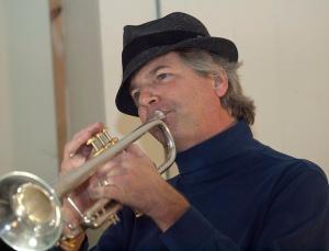 Trent on trumpet - phot by Trent P McDonald