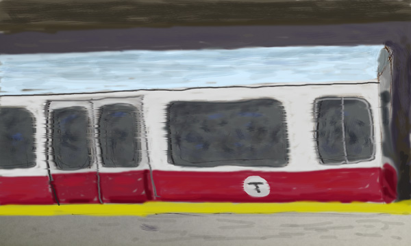 Boston T Red Line - by Trent P McDonald