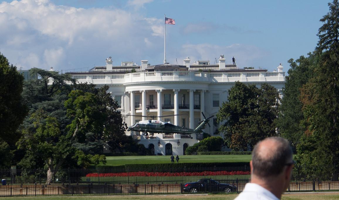 MArine 1 Leaving White House