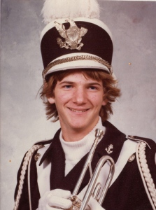 Trent in High School Band
