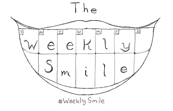 Rough Draft of #WeeklySmile graphic