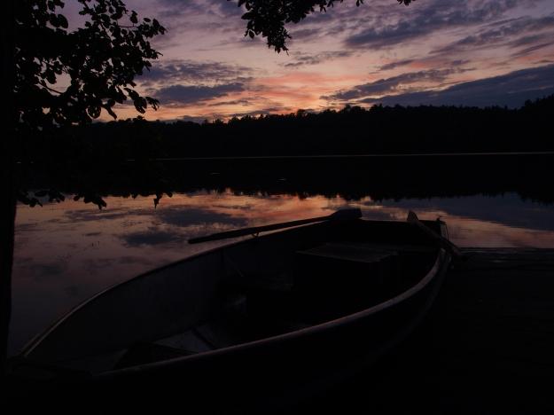 Sunset on Crane's Nest Lake
