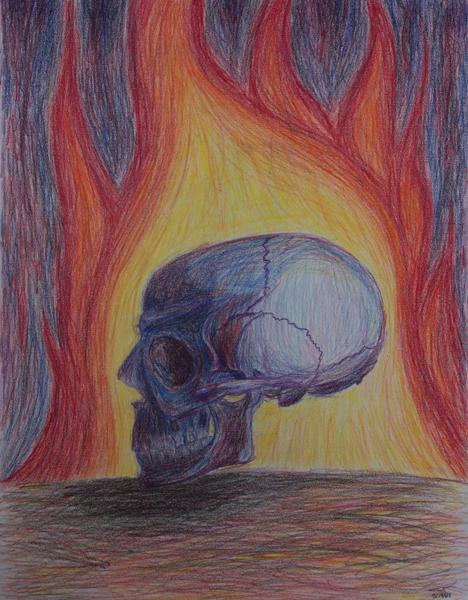 Halley Pencil Skull