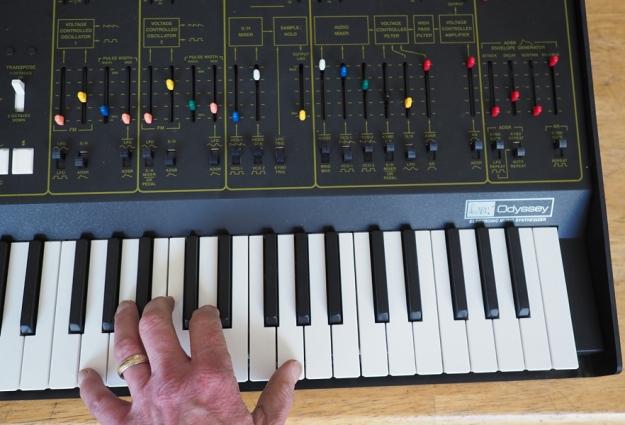 Korg ARP Odyssey with Hand